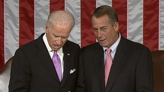 VIDEO: Boehner and Biden Talk Golf Ahead of Obama's Speech