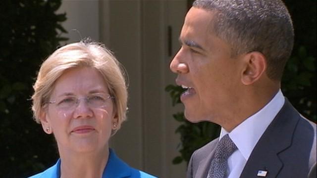 VIDEO: Obama Sidesteps Elizabeth Warren for Watchdog Group