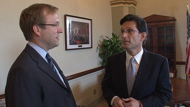 PHOTO: Jon Karl interviewing Majority Leader Eric Cantor