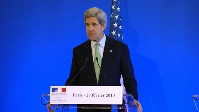VIDEO: New Secretary of State shows off french skills at press conference.