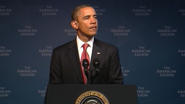 VIDEO: President Obama hails those who joined military following 9-11 terror attacks.