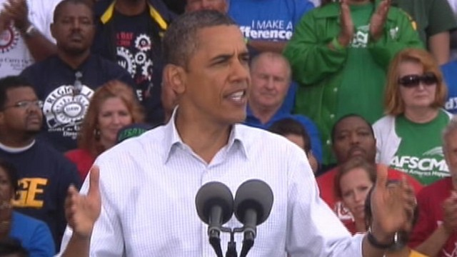 VIDEO: Obama Speaks at Labor Rally in Detroit