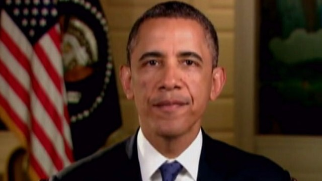 VIDEO: The president talks to the nation in his weekly address.