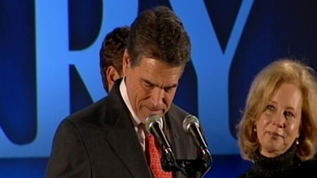 VIDEO: Rick Perry Finishes 5th in Iowa Caucus