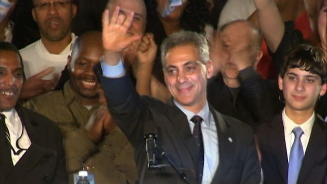 VIDEO: Rahm Emmanual Win Chicago's Mayoral Election
