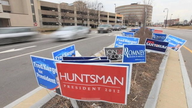 VIDEO: New Hampshire Primary: On the Road With a Sign