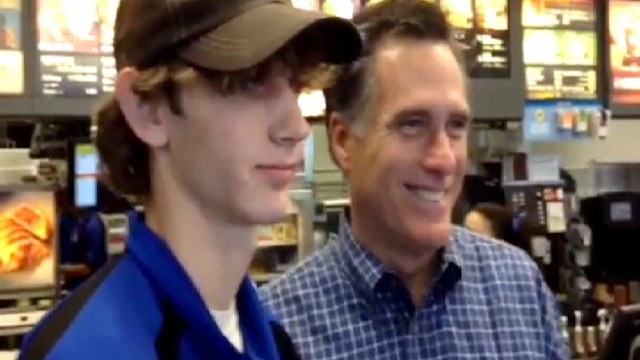 VIDEO: Spotted: Mitt Romney Fueling Up at McDonalds