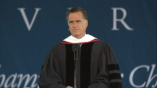VIDEO: GOP frontrunner gives the commencement speech to the class of 2012.
