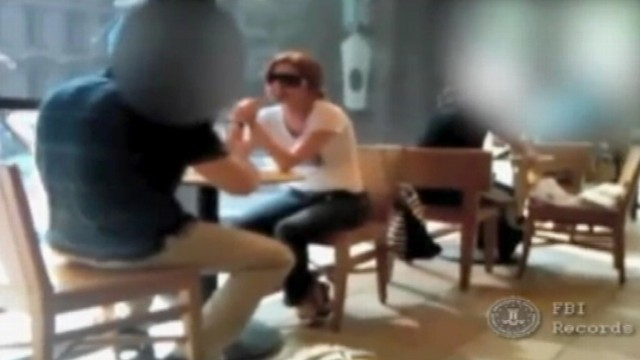 Russian Spy Anna Chapman Meets Undercover Agent in a Coffee Shop
