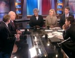 PHOTO: Former Bush Deputy Chief of Staff and Senior Adviser, Fox News Contributor, and American Crossroads Co-Founder Karl Rove, Organizing for Action chair and Former Obama 2012 Campaign Manager Jim Messina, Wall Street Journal Columnist Peggy Noonan, AB