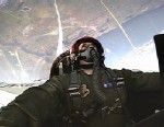 PHOTO ABC News Ned Potter goes without gravity in an Air Force F-16 jet.