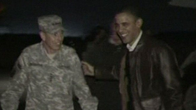 VIDEO: President makes his second trip to the war-torn country as Commander-in-Chief.