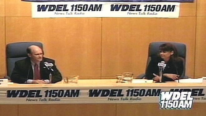 Video of O'Donnell, Coons debate on WDEL.