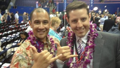 PHOTO: Rick Klein and Hawaiian delegate
