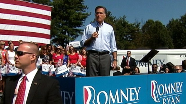 VIDEO: Protester at Virginia event accuses Mitt Romney of politicizing the attack in Benghazi.
