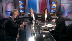 PHOTO: Intelligence Committee Chair Representative Mike Rogers, (R) Michigan, Foreign Affairs Committee Ranking Member Representative Eliot Engel (D) New York, ABC News' George Will, and ABC News' Global Affairs Anchor Christiane Amanpour on 'This Week'