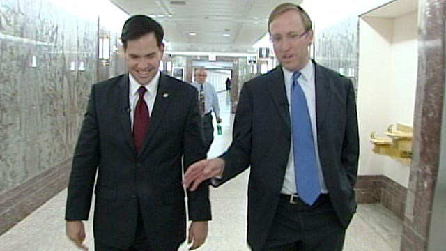PHOTO Jonathan Karl interviews Senator Marco Rubio, R-Fla, in his first national interview since being elected.