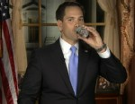 VIDEO: Sen. Marco Rubio, R-Fla., takes a sip in the middle of his GOP response to State of the Union address.