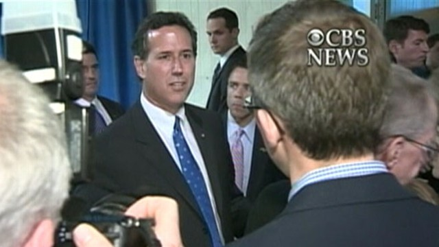 VIDEO: Rick Santorum accuses NY Times Jeff Zeleny of distorting the truth.