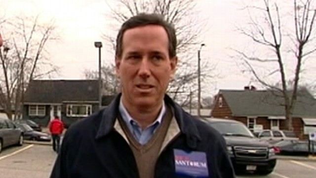 VIDEO: GOP candidate discusses Mitt Romneys comment about firing workers.