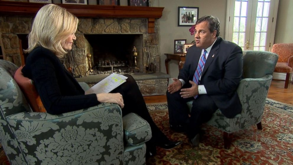 PHOTO: New Jersey Gov. Chris Christie speaks with ABC News Diane Sawyer in an exclusive interview on March 27, 2014.