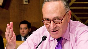 Photo: Sen. Chuck Schumer proposes government health insurance programs abide by same rules as private insurance