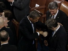 Video: Obama Fist Bumps With Sen. Mark Kirk