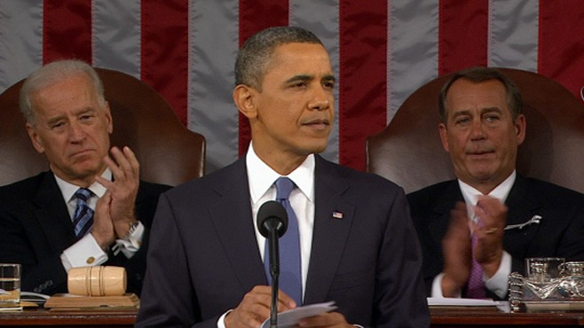 VIDEO: The president acknowledges need for sacrifice and struggle to sustain American dream.