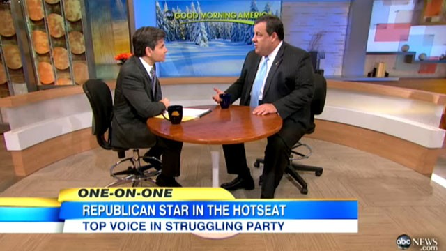 "PHOTO: In an interview with ABC?s George Stephanopoulos, New Jersey Gov. Chris Christie, said it would be ""crazy"" for anybody to try to ""plan four years from now."""