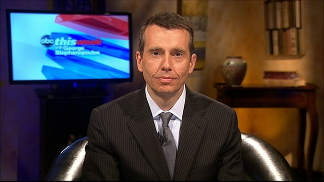 PHOTO: White House Adviser David Plouffe on This Week.