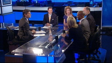 PHOTO: Democratic National Committee Chair Rep. Debbie Wasserman Schultz, Faith and Freedom Coalition Founder and Chair Ralph Reed, Former Obama White House Environmental Adviser and Rebuild the Dream Co-Founder Van Jones, Fox News Anchor Greta Van Suster