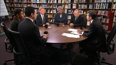 PHOTO: Rep Jason Chaffetz (R) Utah, Rep Donna Edwards (D) Maryland, ABC News' George Will, ABC News Contributor and Democratic Strategist Donna Brazile, and TIME Political Columnist Joe Klein on 'This Week'