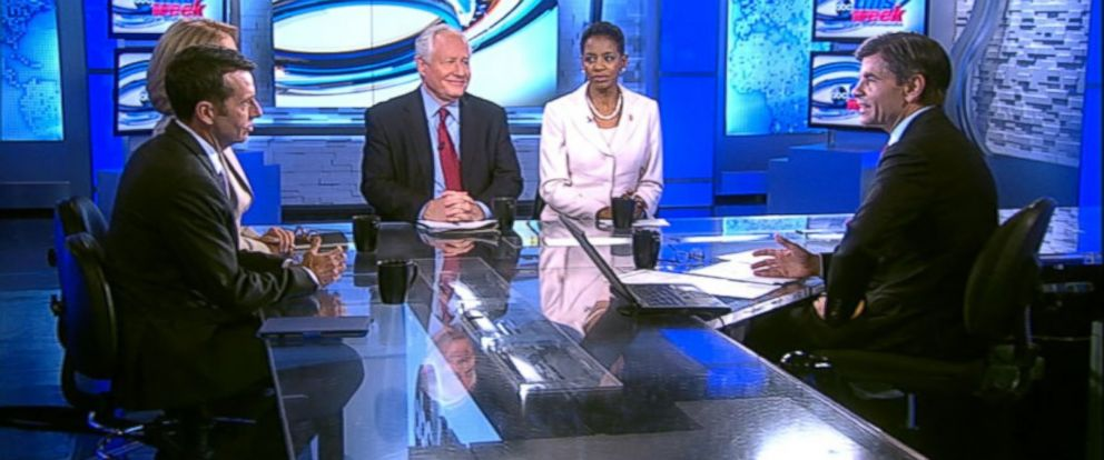 PHOTO: This Weeks Powerhouse Roundtable discussion featured Rep. Donna Edwards, Bill Kristol, Peggy Noonan and David Plouffe.