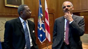 Pierre Thomas exclusive interview with AG Eric Holder