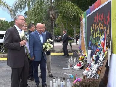 Tim Kaine Visits Orlando Massacre Site With Gabby Giffords