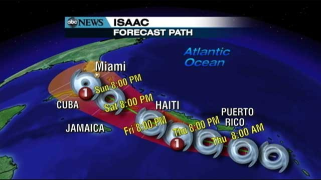 Tropical Storm Isaac Veers West but Republican Convention Not 'Out ...