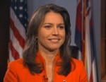 "PHOTO: Rep. Tulsi Gabbard is interviewed June 20, 2013, in Washington, by ABC News for ""This Week."""