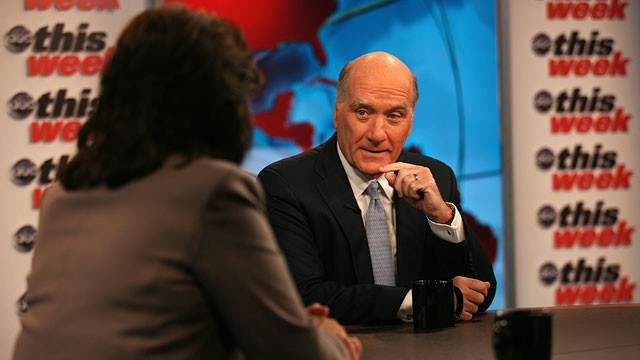 "PHOTO: White House Chief of Staff Bill Daley appears on ABC News' ""This Week with Christiane Amanpour"""