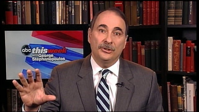 PHOTO: David Axelrod, President Obama's top campaign adviser, is interviewed on This Week.