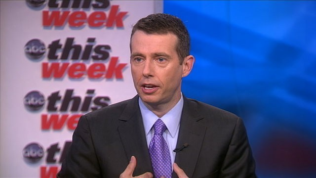 PHOTO: White House Senior Advisor David Plouffe appears on 'This Week' with Christiane Amanpour.