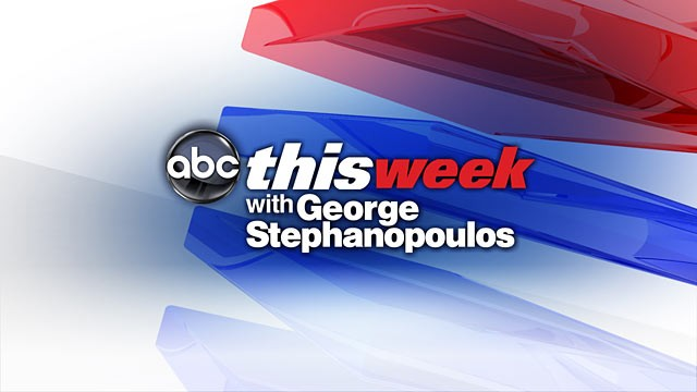 "Watch ""This Week with George Stephanopoulos"" Sunday mornings on ABC."