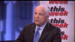PHOTO: Sen. John McCain is interviewed on This Week.