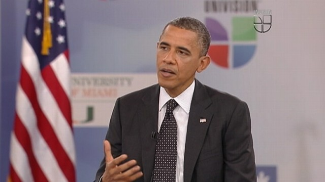 VIDEO: The president remarks on lessons hes learned from his first term at forum for Latino voters.