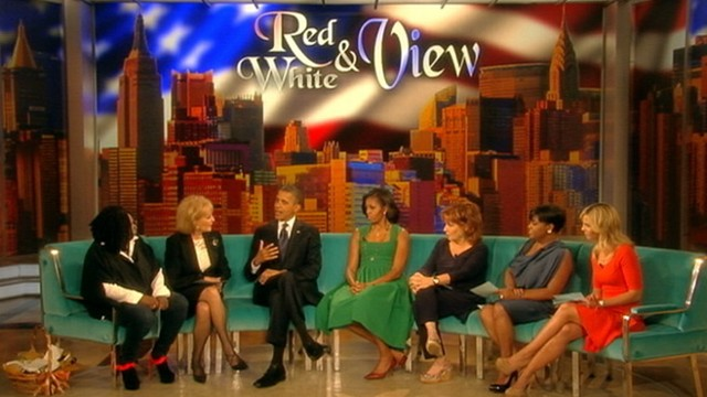 "VIDEO: The president and first lady appear on ""The View."""