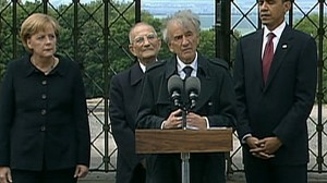 VIDEO: Elie Weisel revisits the Holocaust concentration camp where he was held.