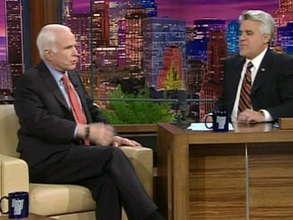 sen john mccain and jay leno