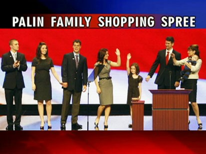 Picture of Sarah Palin and her family.