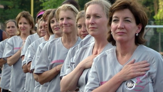 VIDEO: Congressional Women Play Softball for Charity