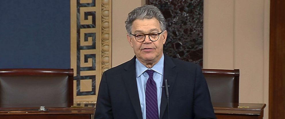 PHOTO: In this image from video from Senate Television, Sen. Al Franken, D-Minn., speaks on the Senate floor of the Capitol in Washington, Dec. 7, 2017.