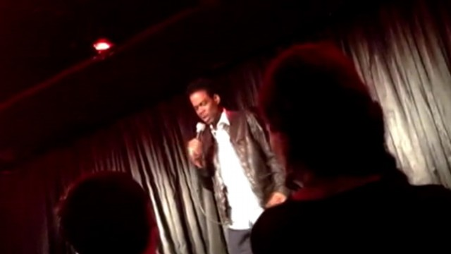 VIDEO: Comedian shares details of presidents 50th birthday at L.A.s Comedy Store.